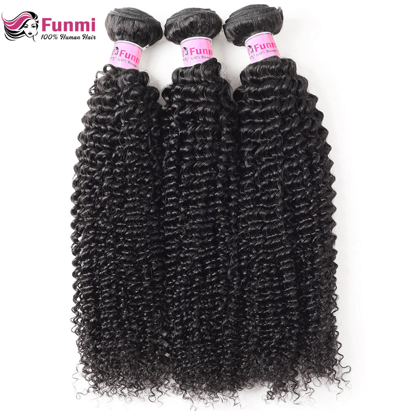 Brazilian Kinky Curly Hair Bundles 100% Unprocessed Brazilian Virgin Hair Curly Hair Extensions Funmi Human Hair Free Shipping
