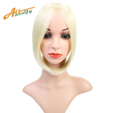 "Allaosify 9"" Long Clip In on Front Hair Bang Side Fringe Hair Extension Real Natural Synthetic bangs hair piece(China)"