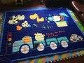 Детские Игры Коврики Ребенка Ползать Одеяло Раунде Плей Мат Chilren Играть Ковер Гонки Игры Ковер Младенческой 100% Хлопок
