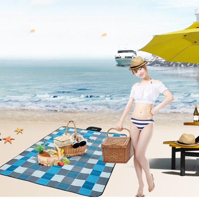 2016 Outdoor Picnic Mat Camping Baby Climb Plaid Blanket Beach Waterproof Moistureproof Picnic Blanket Baby Mat Camping Mat