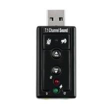 7,1 Внешняя USB звуковая карта USB к разъему 3,5 мм аудио адаптер для наушников Micphone Звуковая карта для Mac Compter Android Linux