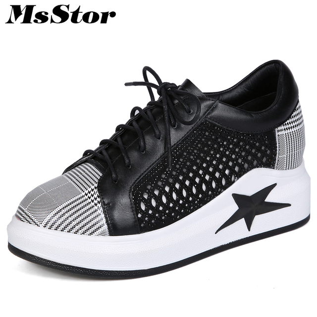 Fashion Women's Athletic Shoes Mixed Color Round Toe Running Sneakers Breathable