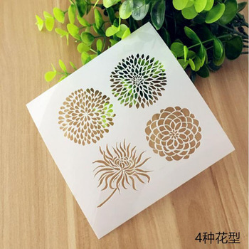 Stencil Reusable Flowers Hollow Layering Stencils For Wall Painting Scrapbooking Stamping Album Decorative Embossing Template reusable feather stencils for card making stamping gift box polymer clay scrapbooking chalk acrylic painting 5 5 5 5 1pc