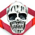 Estilo Punk prata nariz de palhaço crânio anéis para homens de aço inoxidável 316L New moda Hip Hop rocha presentes da festa de jóias LR420