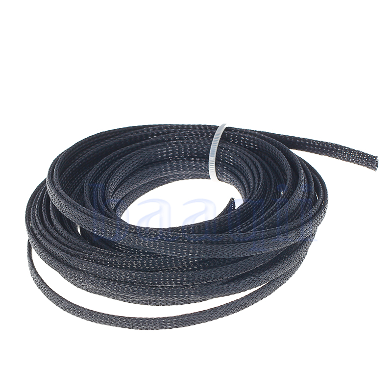 10M 6mm Braided Cable Sleeving Sheathing Auto Wire Harnessing Marine ...