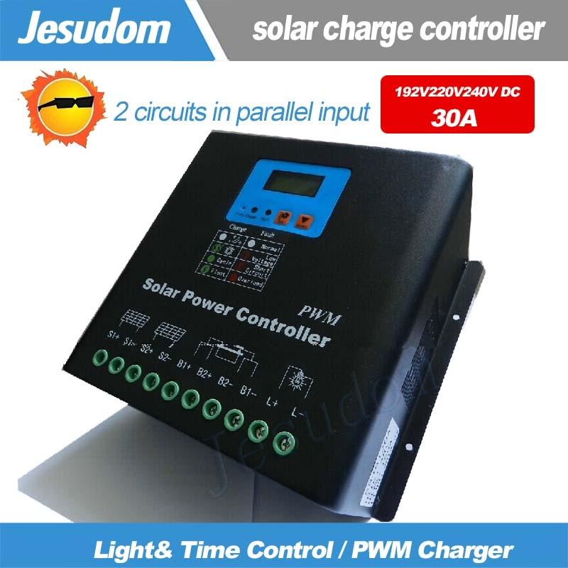 192V220V240V 30A Solar Charge Controller MCU design PV Charger Battery Charge Controller