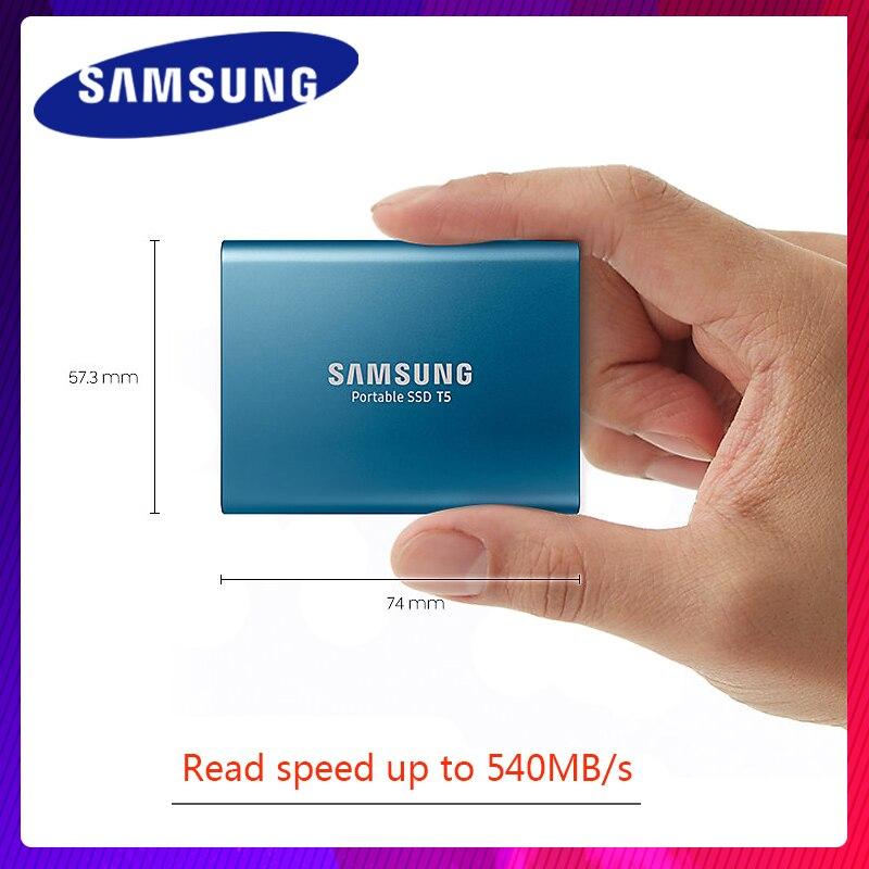 Samsung SSD Externe T5 2 T 1 T 500 GO 250 GB Externe Semi HD Disque dur USB 3.1 Gen2 (10 gbit/s) et Rétrocompatible Téléphone