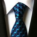 Mantieqingway Formal Jacquard Gravatas para Os Homens dos homens de Negócios Clássico Tarja Poliéster Laços Dos Homens Gravata Para O Casamento Ocasional