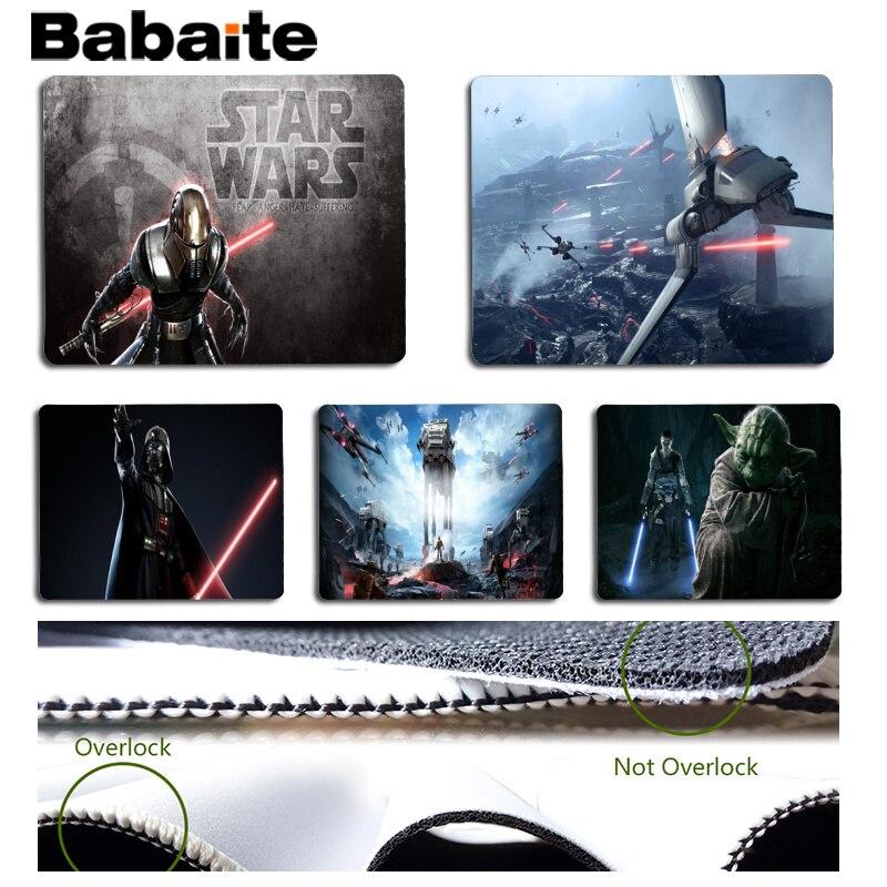 Babaite Звездные войны Красивая аниме Мышь коврик Размеры для 25x29 см игровой Мышь колодки