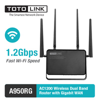 TOTOLINK AC1200 Wireless Dual Band MU MIMO Router With Gigabit WAN A950RG