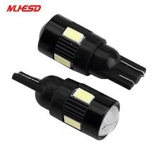 10 pçs t10 w5w 168 194 6smd 5630 led cunha luz super branco carro lado lâmpadas canbus livre de erros 12 v para o carro unversail