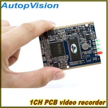 Panneau de circuits imprimés 1CH | mini module dvr HD XBOX DVR de carte up D1(704*576), prise en charge de 30fps, carte sd 32 go