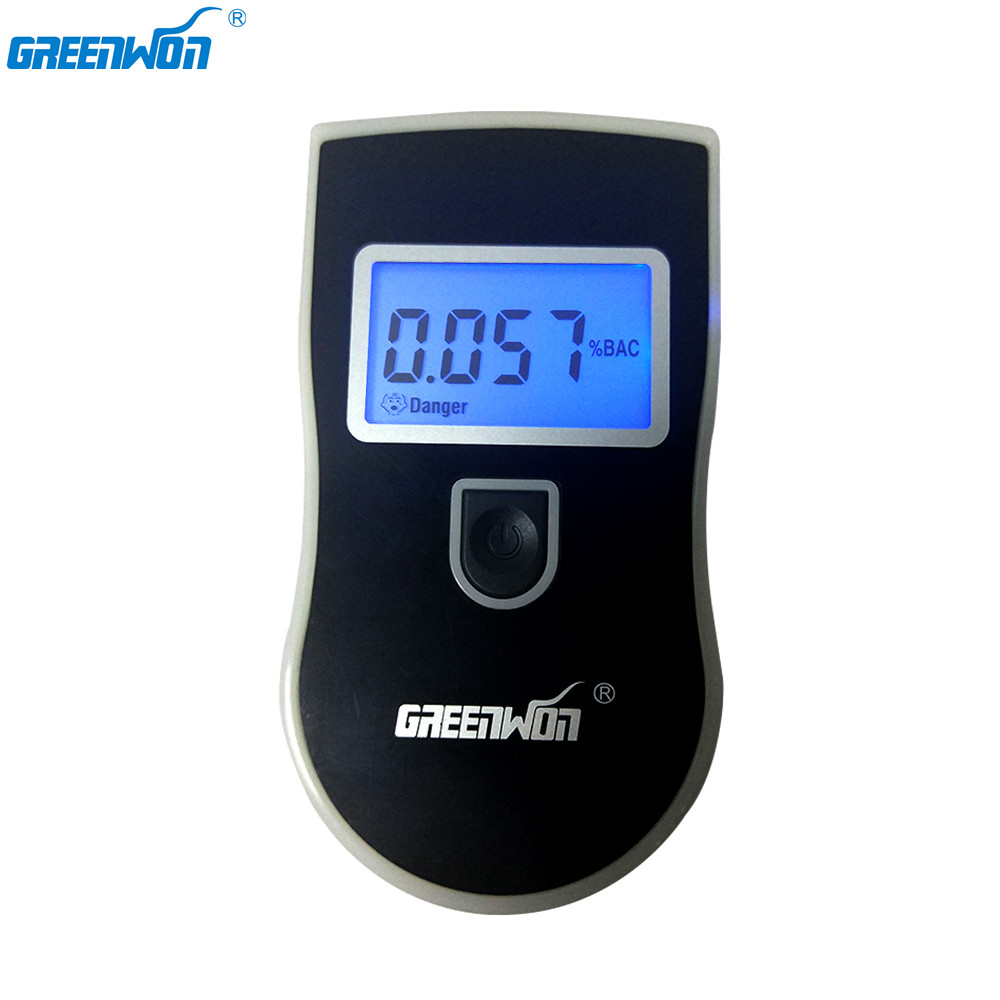 GREENWON HUALIXIN digital LCD dislay alcohol breathalyzer/ breath alcohol tester for car accessories