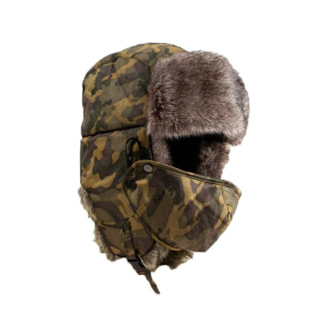 0676353747a Camouflage Hat Unisex Winter Thicken Hats Wind Mask Cold proof Rimq Outdoor  Army Women Men Military Hat Caps-in Bomber Hats from Apparel Accessories on  ...
