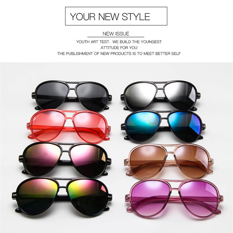 Umanco 2019 New Aviator Kids Sunglasses  For Children Fashion Polycarbonate Frame Acrylic Lens Double Beam Glasses Travel Gifts(China)