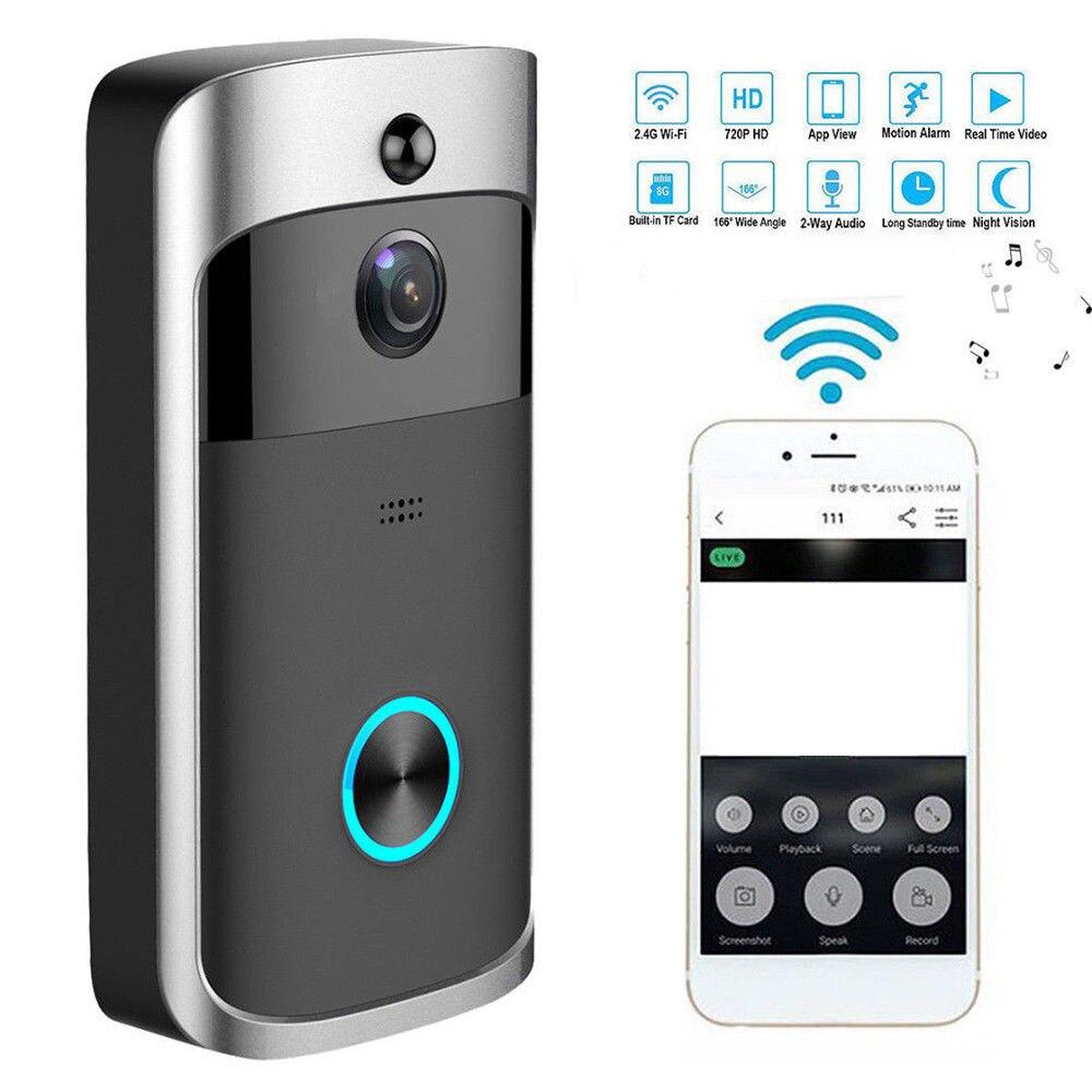 Smart Wireless WiFi Door Bell IR Visual Camera Record Webcam Camcorder Home Security System Doorbells