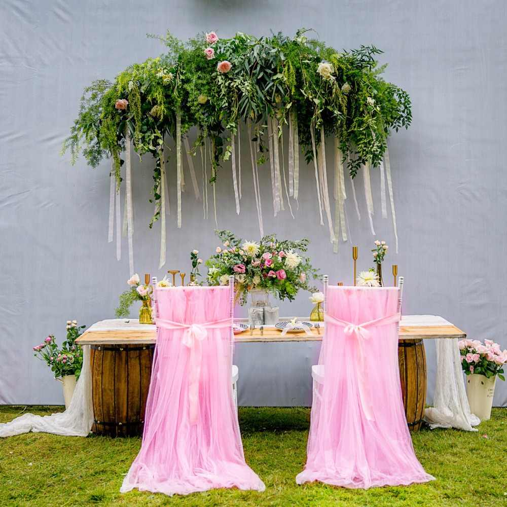 Tremendous Wedding Chair Covers Outdoor Chair Skirts Long Chiffon Chiavari Chair Sash Soft Satin Fabric Sashes Wedding Banquet Party Decor Machost Co Dining Chair Design Ideas Machostcouk