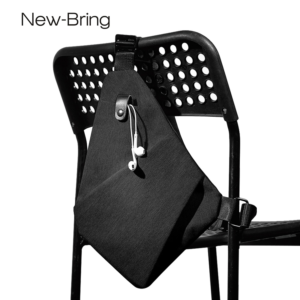 Home Independent Newbring Black Single Shoulder Bags For Men Waterproof Nylon Crossbody Bags Male Anti-theft Chest Bag