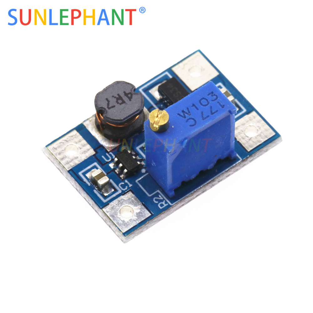 Smart Electronics DC-DC SX1308 Step-UP Adjustable Power Module Step Up Boost Converter 2-24V to 2-28V 2A