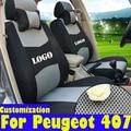 Cubiertas para peugeot 407 fundas de asiento de coche accesorios sándwich interior car styling auto asiento cojines conjunto asientos de coche para Peugeot