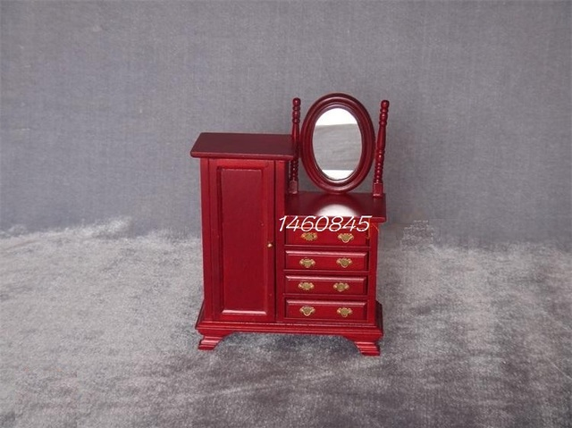 Retro Slaapkamer Meubels : 1:12 poppenhuis miniatuur meubels houten mini retro slaapkamer scene