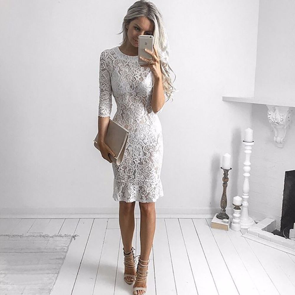 Large Of White Lace Dresses