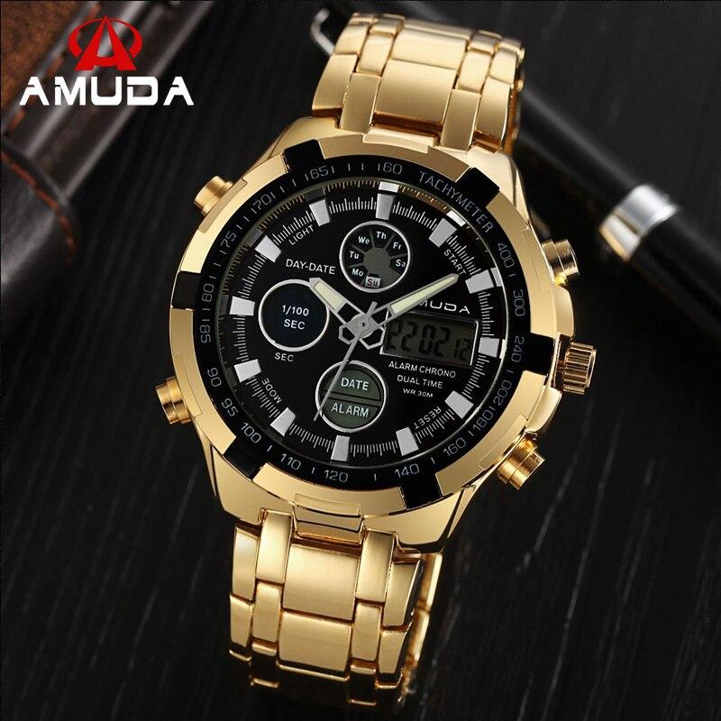 2017 Moda Marca AMUDA Digital Led Militar Relógios Homens Esportes . 5111c3ce7c