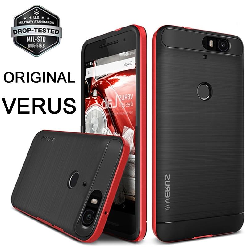 Original VERUS For Google Nexus 6P Case High Pro Shield Dual Layer Hard Frame Brushed Metal