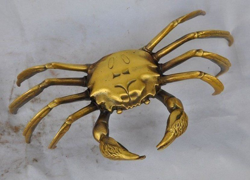 Exquisite Old China Bronze Wealth Crab (P Plus come fiscal) Statue Exquisite Old China Bronze Wealth Crab (P Plus come fiscal) Statue