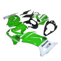 Factory road racing fairings kit for Kawasaki 2008 2010 2014 Ninja 250 EX250 08 11 14 ZX 250R green white injection fairing kits