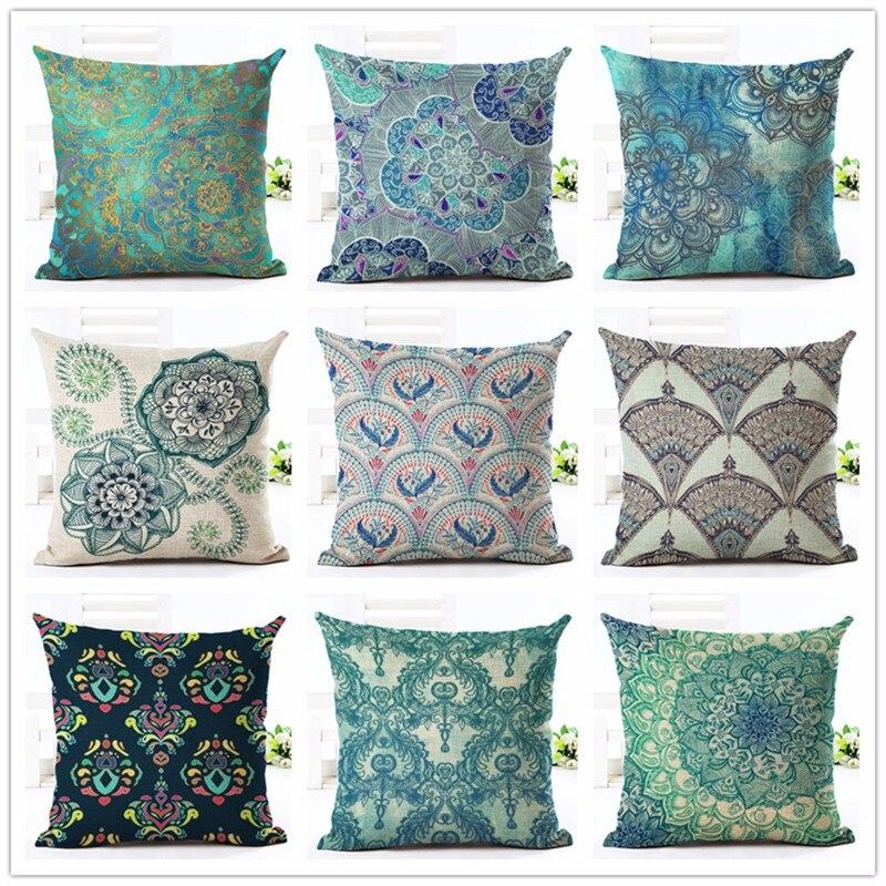 ᓂEstilo Vintage Mantas Almohadas Fundas de colchón Decoración para ...