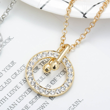 New Fashion Women Gold Sliver Big Circuit Crystal Pendant Necklace Exquisite OL Ladies Shiny Clavicle Jewelry