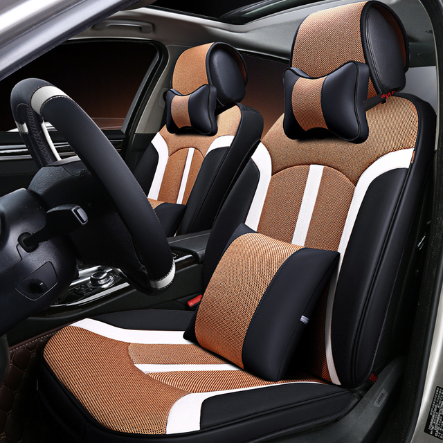 New 6d Car Seat Cover Universal Seat Cushion Senior Leather Sport