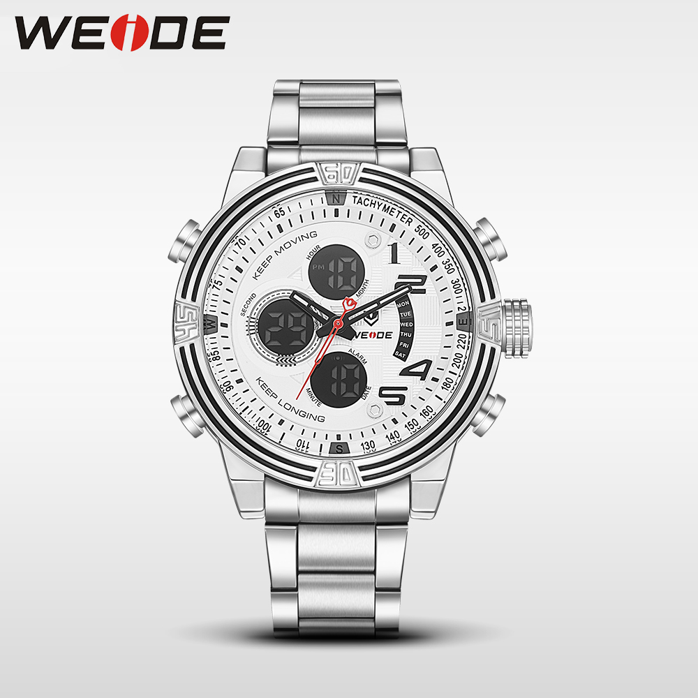 2017 new hot weide men watches top brand luxury men business sport quartz watch stainless steel bracelets 21mm date digital led 2017 hot weide men watches top brand luxury men sport silicon watch quartz date digital led analog water resistant military5203
