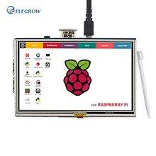 Elecrow 5 дюймов Raspberry Pi 3 ЖК-дисплей Сенсорный экран Дисплей HD 800×480 TFT HDMI Мониторы для Raspberry Pi 3 2B b + банан pi