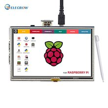 Buy online Elecrow 5 Inch Raspberry Pi 3 LCD Touch Screen Display HD 800×480 TFT HDMI Monitor for Raspberry Pi 3 2B B+ Banana Pi