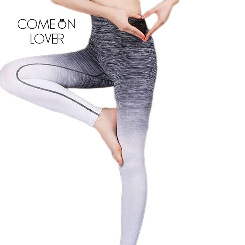 932f63ffef929 Comeonlover Women Slim Sportleggins High Elastic Comfortable Workout Pants  Gradual Change Breathable Women's Fitness Leggings-in Leggings from Women's  ...