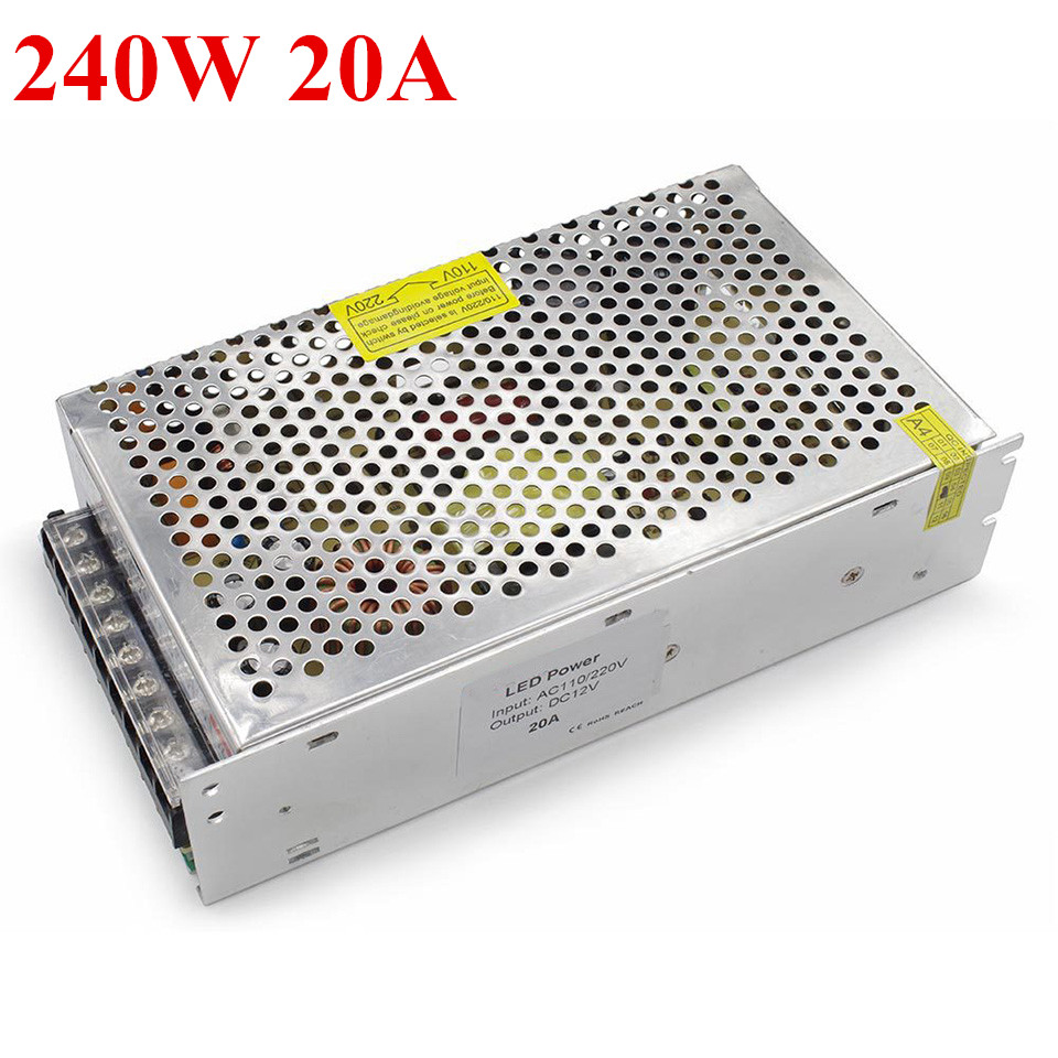 DC12V 20A switching power supply 240W Led Strip Transformers for led strips light 240W 20A power adapter transformers маска bumblebee c1331
