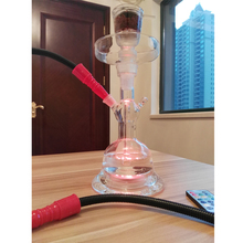 Hot sale 2018 all clear glass hookah with 4.5V water proof led light remote control higher quality AL Fakher chicha narguile led