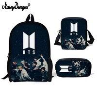 BTS Letter Printing Backpacks Children Big Schoolbag for Girls Fashion Korean Style School Bag Women pencil bag kpop for Kids