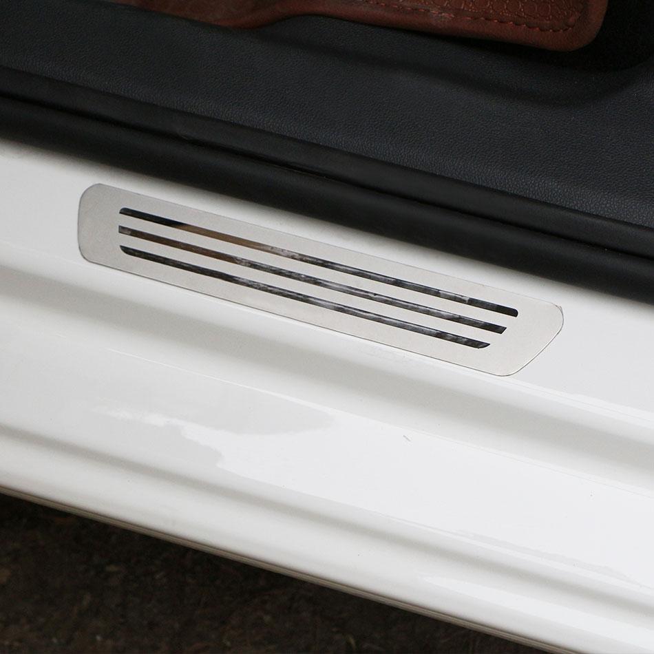 Color My Life, 4 шт./лот, Накладка на порог автомобиля, подходит для VOLKSWAGEN VW POLO, 2011-, нержавеющая сталь, добро пожаловать, педали