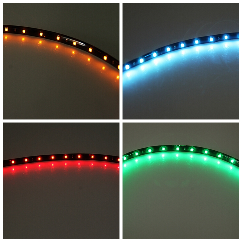 2pcs 30 cm Flexible LED Strip Waterproof Daytime Running light DRL Car <font><b>accessories</b></font> motorcycle bicycle bike Decorative light image