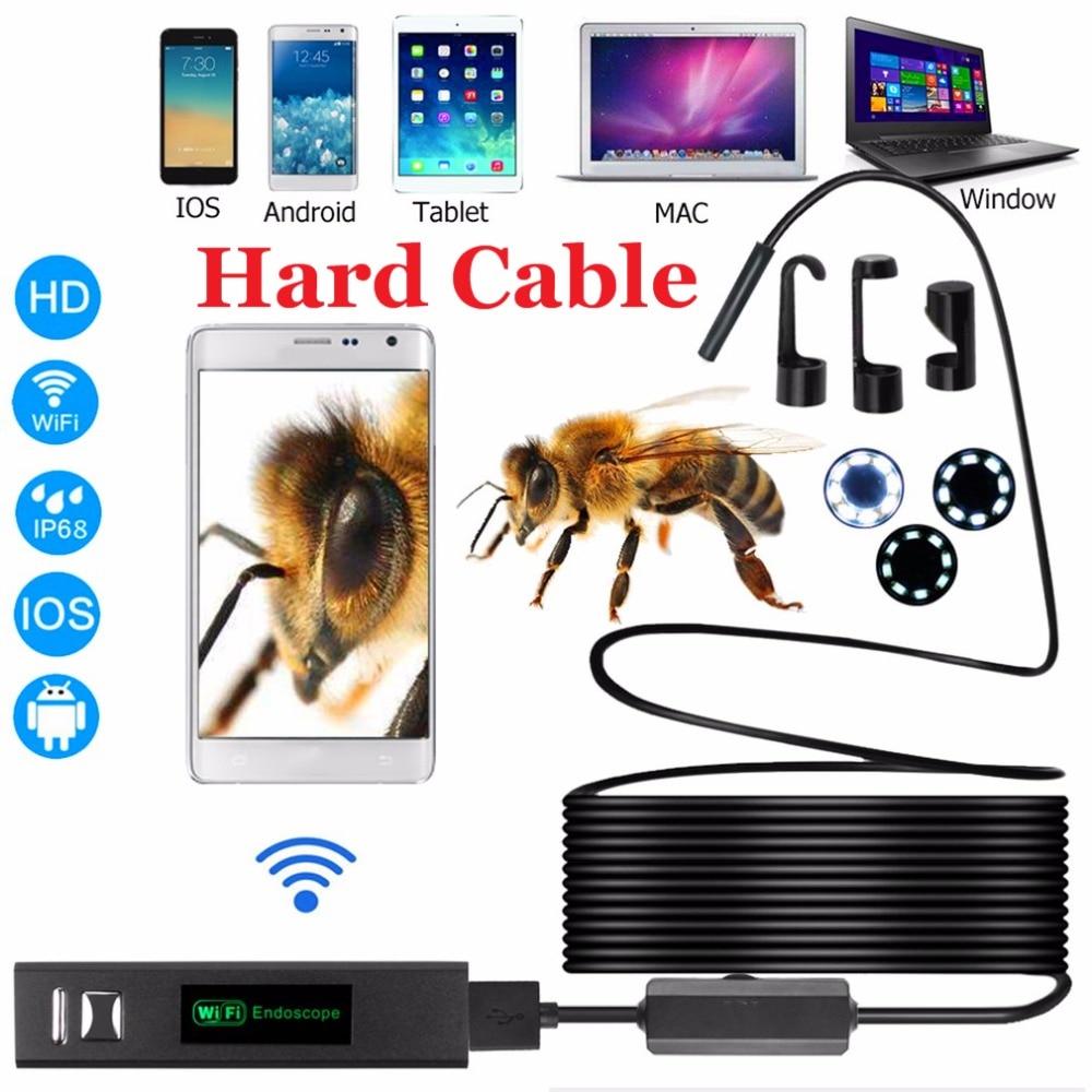 1200p Endoscope Hd 1080p Wifi Endoscope 1m 2m 3.5m 5m 10m Usb Inspection Camera Waterproof Borescope Camera Hard Cable Tube