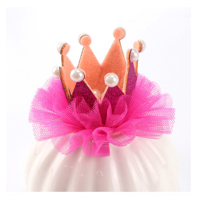 Rhinestone Crown Lace Kids Girls Headwear Princess Sweet Girls
