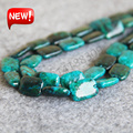 Necklace&Bracelet 10x14mm Natural Azurite Chrysocolla beads jade Jasper gift 15inch Rectangle Jewelry making design wholesale