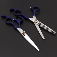 Onwear Professional Hair Cutting Thinng Scissors 6 inch Barber Hairdressing Shears Salon haircut scissor with leather case