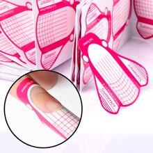 YZWLE, 100 шт, форма для ногтей, сделай сам, дизайн ногтей, руководство для удлинения, формы, акрил, УФ гель для ногтей, наклейка, маникюр, советы, форма, доступ