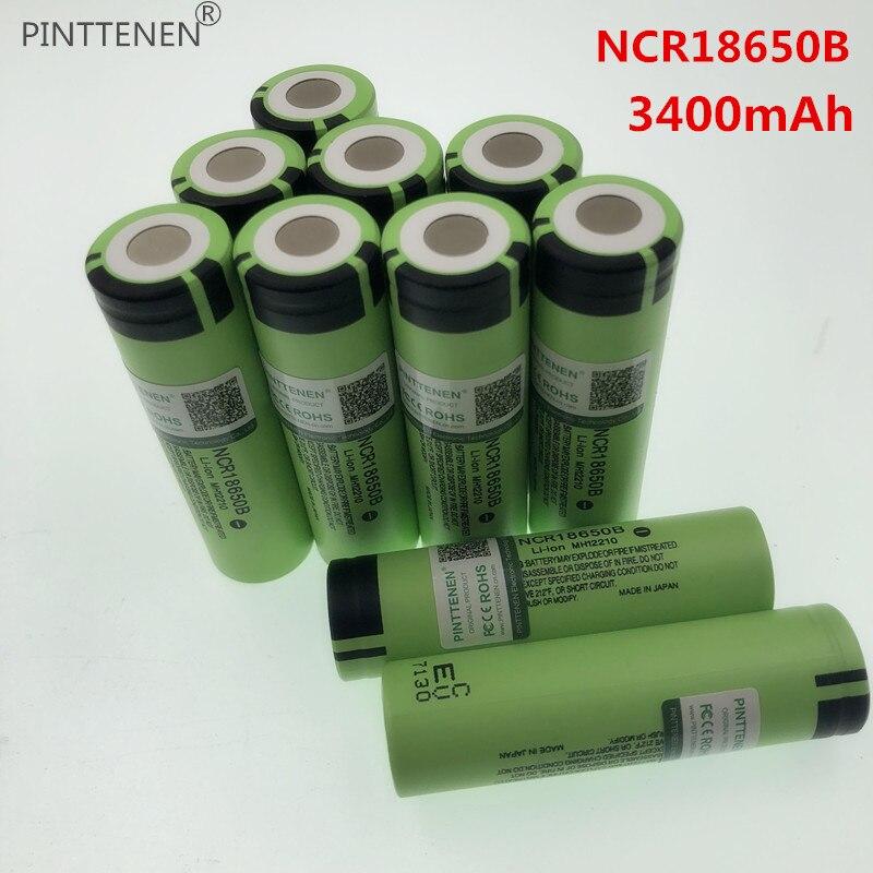 NEUE PINTTENEN Ursprüngliche NCR18650B 3,7 V 3400 mah 18650 Lithium-akku Für Panasonic Taschenlampe batterien