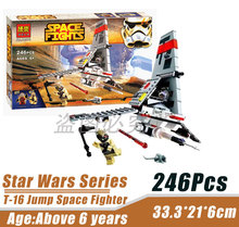 Bela 10372 Star Wars Space Wars T-16 Jump Empty Planes Minifigures Building Block Minifigure Toys Compatible with Legoe