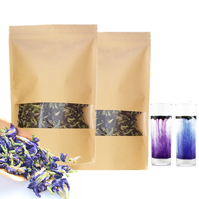 1bag 100g Clitoria Ternatea Dry Flower Kitchen Toy.Shipping Thailand Blue Butterfly Pea Tea Simulation Play House Toy.Vitamin A
